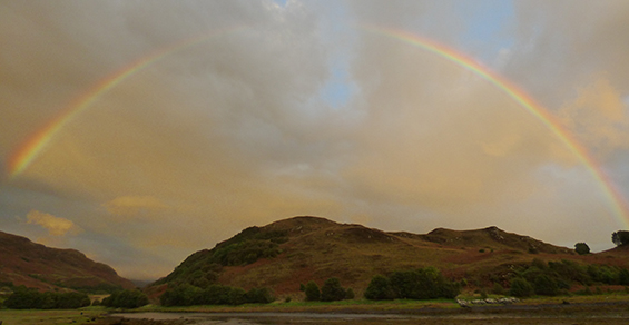Seadrift,Self-catering, Dornie - rainbow