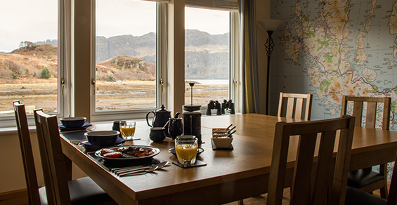 Seadrift, Self catering, Dornie - breakfast view